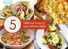 Put that leftover holiday ham to good use with these five delicious recipes!