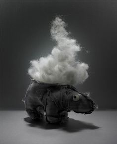 poofy exploding hippo toy