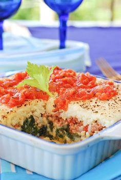 Pastelón de arroz (Rice and beef casserole)