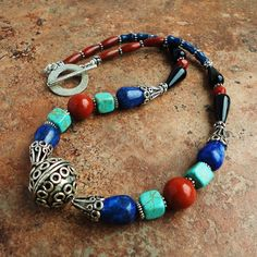 Exotic Gemstone Beaded Necklace