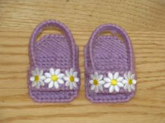 American girl sandals made with plastic canvas.