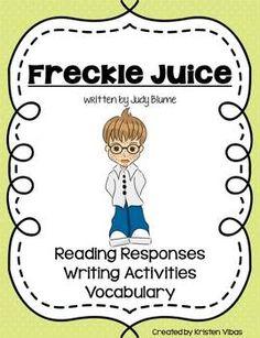 ... Book Activities, Freckles Juice, 2Nd Grade, Freckle Juice Book Study