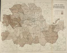 A Map of London showing the proportion of the inhabitants of each registration sub-district in 1881, born in other parts of the United Kingdom