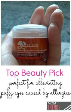 """Beauty find! Origins """"Ginzing"""" refreshing eye cream.  http://rstyle.me/n/xbukzqm6  Testing this for about two weeks now and has 100% helped my puffy allergy eyes."""