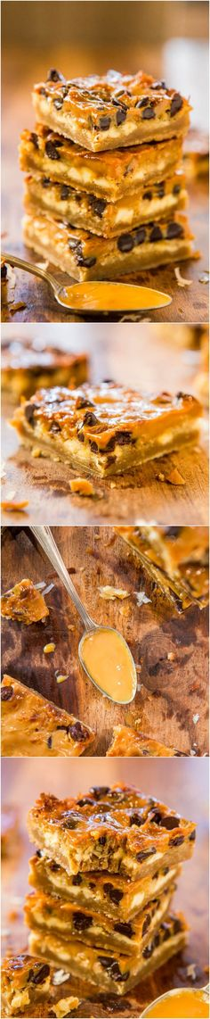 Dulce de Leche Coconut Chocolate Chip Bars - Chocolate, white chocolate & coconut flooded with dulce de leche. Like 7-Layer Bars, with sweet, creamy, caramely dulce de leche instead!