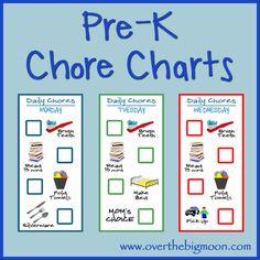 Pre-K Printable Chore Charts