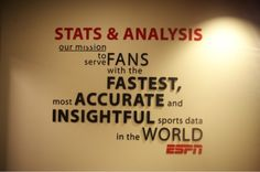 ESPN stats and analysis department