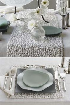 Stone Runner and Place Mats