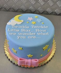 Gender Reveal Cake... So stinking cute!.