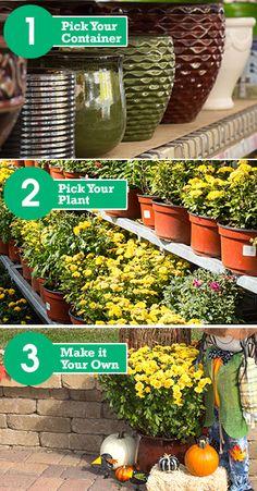 Easily create your own fall container garden. http://www.menards.com/main/c-19120.htm?utm_source=pinterest&utm_medium=social&utm_campaign=gardencenter&utm_content=fall-container-garden&cm_mmc=pinterest-_-social-_-gardencenter-_-fall-container-garden