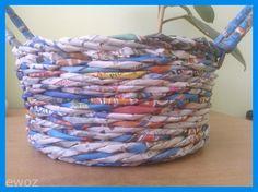 w domowym zaciszu czyli rękodzieło i rękodzieło :): koszyk splotem schodkowym- kursik