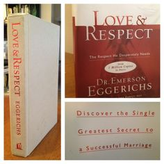 Love And Respect by Dr. Emerson Eggerichs is a phenomenal marriage tool that should be in the hands of every husband and wife.  This book has drastically changed my approach to marriage, especially helping my husband and I understand each other and our responses a bit better.  This book highlights some of the greatest communication mysteries that have perplexed husbands and wives for centuries!