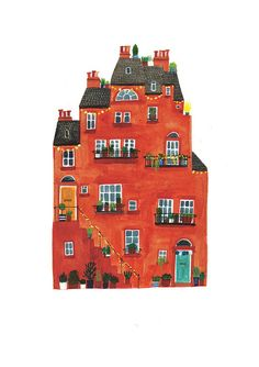 Red house by Lizzy Stewart, via Flickr