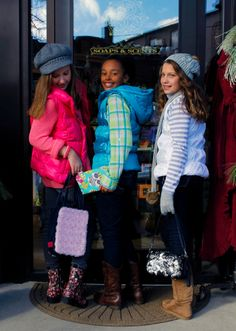 """Customizable girls handbags - from another pinner: """"my daughter just gave one of these bags as a birthday gift. HUGE hit! Every girl at the party wanted one. This is THE new thing!"""" photo from OMGirls Magazine"""