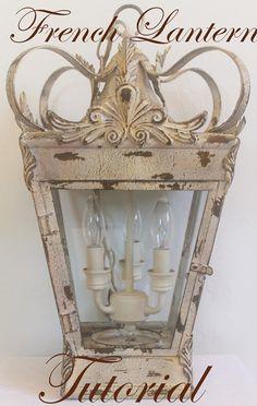 DIY French Lantern Chandelier Tutorial