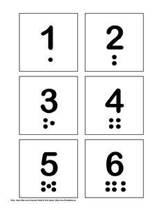 Free printable  Number PECs