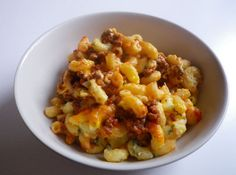 Ground Beef Macaroni Casserole- So good! Just had it for dinner