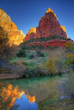 Morning shadows in Zion National Park | Flickr - Photo Sharing!