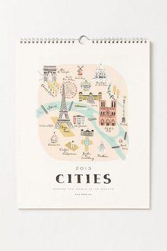 Metropolis Calendar #anthropologie