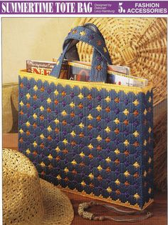 Summertime Tote Bag Plastic Canvas Pattern by needlecraftsupershop, $3.50