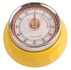 Kikkerland Magnetic Kitchen Timer Yellow