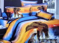 #elephant Mother and Baby Elephant in Water 3D Duvet Cover Sets  Live a better life, start with @beddinginn