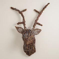 Twig Stag Head >> #W