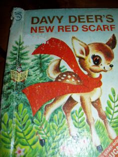 Sixties Rand McNally Elf Book Davy Deers New Red Scarf