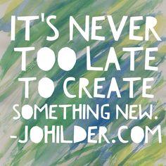 So get to it! johilder.com