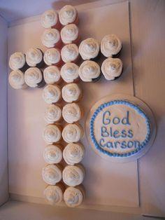 Baptism Cross cupcakes