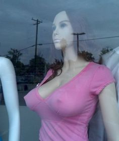 funni stuff, funni sht, hands, funni pic, humor, front window, freak mannequin, awesom, busti mannequin