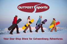 snowboard, paddl board, sand volleybal, outpost sport, kayak