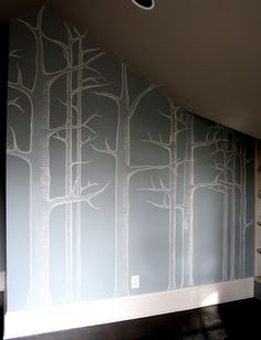 Amazing hand-painted walls
