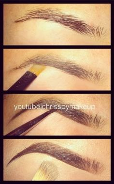 Fill in those brows! It will totally transform your face for the better! Great tutorial