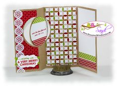 I shared a video today on how to create this card with Stampin Up's new Circle Flip Card Thinlits Die  http://stampingwithsandi.com/the-circle-flip-card-thinlits-dies/