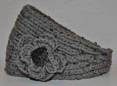 Headband flower knit