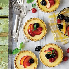 Lemon-Mascarpone Icebox Tarts | Top these darling lemon tarts with fresh slices of fruit for a beautiful presentation. | SouthernLiving.com