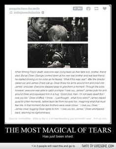 Fred and George and James and Oliver. I definitely teared up reading this.