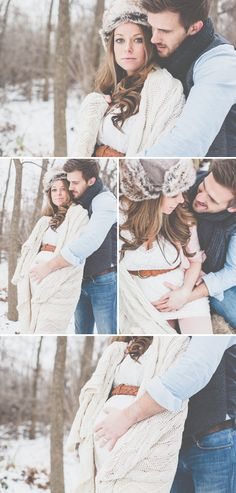 Winter maternity session in the snow! Love it!! Perfect for family winter vacation. :)