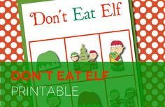 Don't Eat Elf...fun Christmas version of Don't Eat Pete! My kids can play this for hours. Fun holiday party game. #christmasgame #donteatelf