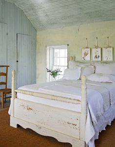 cottag, bed frames, beds, color, shabby chic, diy headboards, guest rooms, country bedrooms, design