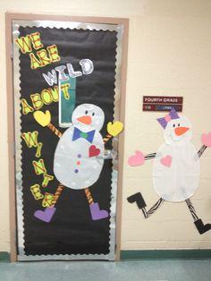Winter classroom door idea