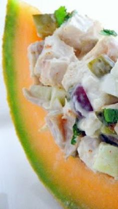 Cajun Chicken Salad with lots of Farmer's market Goodies! This is my very favorite recipe for chicken salad. Lots of fresh goodies (crunchy apples, sweet grapes... more) make this AS GOOD AS IT GETS... reminds me of summer!