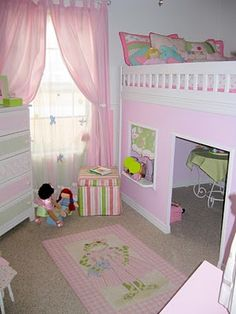 DIY Playhouse Loft Bed.