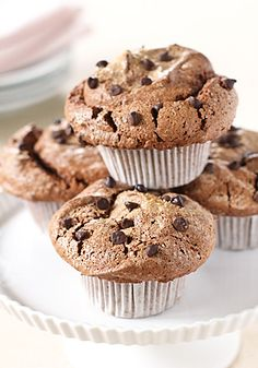 Chocolate Angel Food Muffins ~low fat~