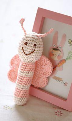 amigurumi butterfly. free crochet pattern from ravelry