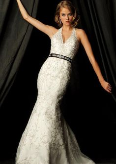 Empire Halter Chapel Bridal Gown