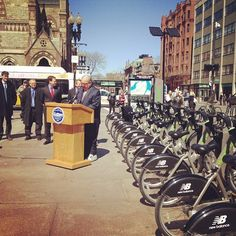 Boston Mayor Menino speaking at the @Hubway Season 2 launch!