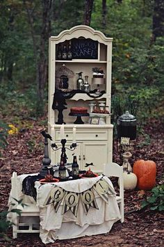 Halloween decor! Halloween party via Kara's Party Ideas KarasPartyIdeas.com #halloween #decor #party #ideas
