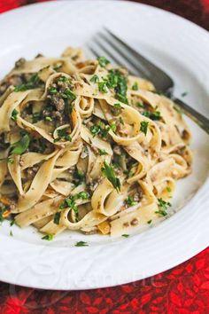 Healthy Mushroom Ground Beef Stroganoff Recipe